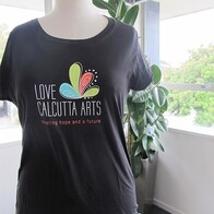 Womens Tee - Love Calcutta Arts